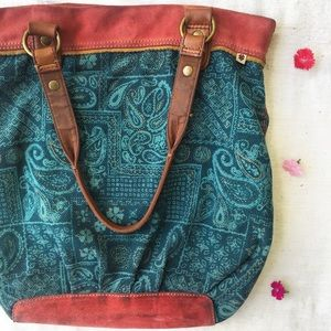 Lucky Brand Boho Tote Bag / Shoulder Purse
